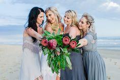 Bridesmaids colour palette  Beach Bohemian Wedding by Anina Harmse | SouthBound Bride