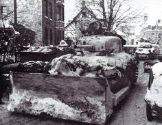 Rue de la Gare, Malmedy, 1944.
