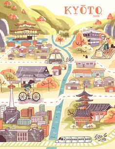 (Third map for senior project. Kyoto this time. :>)