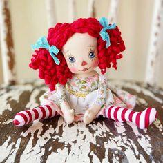 Doll Maker, Pretty Baby, Collector Dolls, Fabric Dolls, Lana, Christmas Ornaments, Holiday Decor, Handmade, Instagram