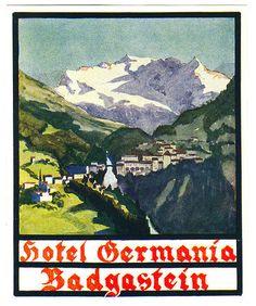 Bad Gastein Harry Potter Poster, Luggage Labels, Salzburg, Vintage Travel Posters, Skiing, Austria Travel, Movie Posters, Art, Ski