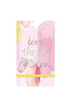 """A fun notepad with an elastic belt.  Dimensions: 6""""L x 3.5""""W x 0.5""""D Materials: Paper Pages: 90 sheets  Life Notepad by Black Rooster Decor . Home & Gifts - Gifts - Stationery & Office Toronto Canada"""
