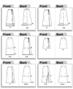 McCall's 2192 - Perfect to create your own version of YSL's wrap skirt.  Cut for calf-length and use a French Curve to round off the bottom.