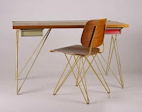 1950s desk & chair by Coen de Vries