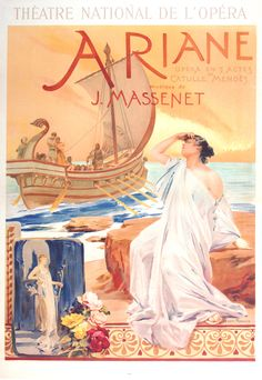 because it would go in my room, and it was on the wall in Moonstruck Ariane opera poster by Maignan, 1906