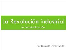Title Slide of La Revolución industrial
