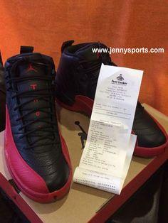 huge discount fcdcd 4c304 Air Jordan 12 Retro Flu Game Black Varsity Red  Authentic 130690-002