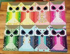Allie the owl   Flickr - Photo Sharing! Fancy forest quilt pattern #fancyforest @spetzie on IG