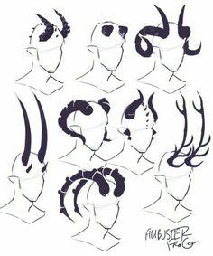 cheatsheet horn part tiefling – binde horn cheatsheet teil 2 (teil ti … - fantasyart Art Drawings Sketches, Easy Drawings, Demon Drawings, Body Sketches, Fantasy Drawings, Creature Drawings, Pencil Drawings, Drawing Reference Poses, Drawing Ideas