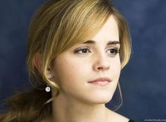 Emma Watson With Bangs Hairstyle