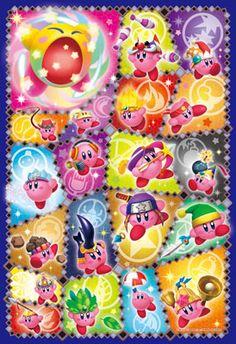 Art Crystal Jigsaw - Hoshi no Kirby Triple Deluxe Copy Nouryoku Collection 300pcs
