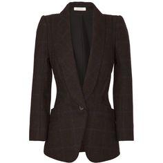 Nina Ricci Plaid Harris Tweed Blazer found on Polyvore