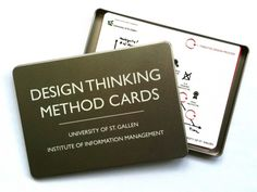 This set of method cards introduces briefly the design thinking approach. It explains the design process as well as the prototyping phases of design thinking projects.