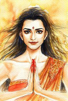 Fanart of Draupadi ,Mahabharat,by Snowcandy.CC:BY-NC-ND