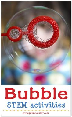Bubble STEM activities pack with 2 bubble experiments for exploring surface tension and 10 bubble challenges for hands-on learning about bubbles. Bubble Activities, Preschool Science Activities, Steam Activities, Stem Science, Science Experiments Kids, Science For Kids, Art Activities, Kindergarten Stem, Kids Bubbles