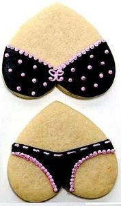 Lingerie shower cookies, or for whatever occasion, alot of work but for a great conversation food