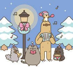 pusheen the cat by www.chicute.com Gato Pusheen, Pusheen Love, Pusheen Christmas, Christmas Cats, Christmas 2017, Merry Christmas, Pusheen Stormy, Kawaii Cat, Hamster