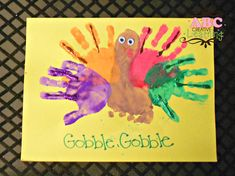 Handprint & Footprint Turkey Kids Arts & Crafts
