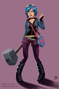 Fanart Friday! I drew Ramona Flowers from Bryan Lee O'Malley's magnificentScott Pilgrim. -Aaron Diaz, how are you the best?