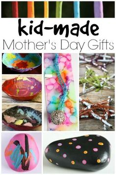 Hand Made Mother's Day Gifts for Kids to Make.  Gorgeous gift ideas for kids (from toddler to tween) to make and give to Mum