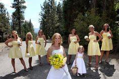 Flowers, Hair, White, Dress, Brown, Bridesmaids, Yellow, Inspiration, Board, Rustic, Groomsmen, Vintage, Lake, Bear, Mountain, Big, Julie wilson