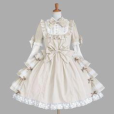 Manica lunga al ginocchio Beige Princess Dress Cotton Lolita – EUR € 90.74