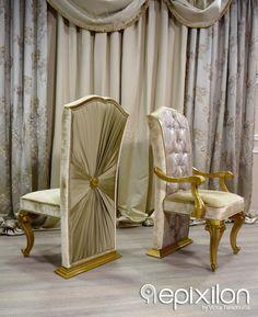 "Handmade classic chair ""Versace"" Epixilon... #epixilon #creations #luxury #classic #chair"