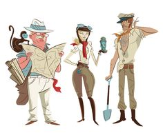 Daniel Krall - Character Design Page