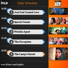 Check out #iFilm's today schedule.