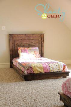 DIY Furniture  : DIY Pottery Barn Inspired Twin Platform Bed