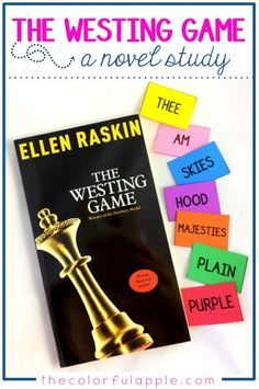 The Westing Game is a wonderfully intriguing mystery and a great novel study for… 6th Grade Ela, 6th Grade Reading, Eighth Grade, Reading Activities, Teaching Reading, Guided Reading, Reading Room, Literacy Activities, Teaching Tools
