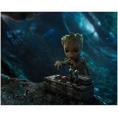 Vin Diesel 8 inch x 10 inch Photograph Guardians of the Galaxy Fast & Furious xXx as Baby Groot About to Push Button kn