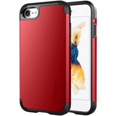 iPhone 7 Case, LUVVITT [Ultra Armor] Shock Absorbing Case Best Heavy Duty Dual Layer Tough Cover for Apple iPhone 7 - Red. IPHONE 7 CASE : Compatible with Apple iPhone 7 (2016). SOLID CONSTRUCTION: Double layer armor case design combines a protective German Bayer branded hard shell and a shock absorbing TPU core. LUVVITT ULTRA ARMOR iPhone 7 Case only fits 4.7 inch screen iPhone 7. Search our other listing for iPhone 7 PLUS version of the same item. SLIM and MILITARY : Very sleek yet…