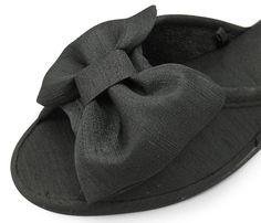 Amazon.co.jp: [スリッパ]ヒールスリッパ ブラック (BKリボン): シューズ&バッグ:通販