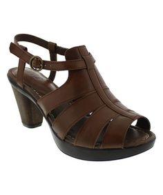 Look at this #zulilyfind! Brown Bittersweet Leather Sandal - Women #zulilyfinds