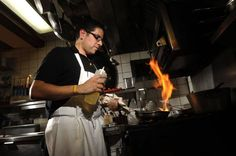 Chef Alonso Ortiz specializes in Spanish cuisine at Pintxo Restaurant in Montreal.