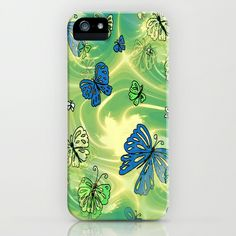 Butterfly Flutterby Blues GALAXY, iPhone & iPod Cases by  RokinRonda - $35.00 @Society6