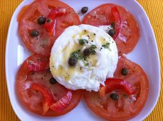 Poached-egg-tomatoes-and-caper-salad