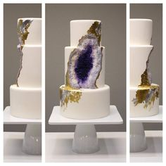 Geode Wedding Cake - Intricate Icings Cake Design