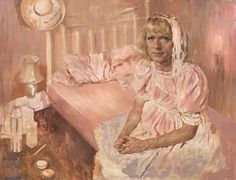 Claire's Room (Grayson Perry) (in progress), oil on canvas, 101 x 127 cm, from The Many Faces of Jonathan Yeo, published by Art / Books Art Gallery, National Portrait Gallery, Jonathan Yeo, Hockney, Portrait Artist, Artist, Painting, Nicolas De Stael, Portrait Gallery