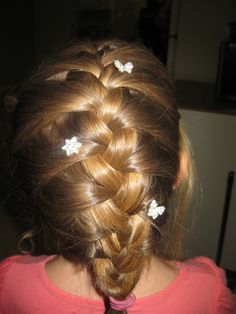 french braid with added stars