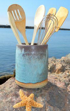 White Wash Utensil Crock   BedBathandBeyond.com | Beach House | Pinterest |  Utensils, Organizing And House