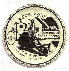 A lovely little cheese label from Belturbet, Ireland.