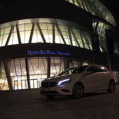 Mercedes-Benz A-Class at Mercedes-Benz Museum, Stuttgart. Photo by Fabian Meßner. Fuel consumption combined: 6,4-3,6 l/100km, CO2 emissions combined: 148-92 g/km. #MBCars