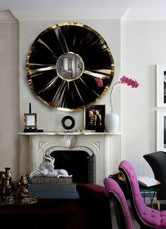 @koket Projekte - Elegante Ambiente mit einem großen Schwarz Spiegel und schöne Farben und Accessoires | See more at http://www.brabbu.com/en/partners-products.php