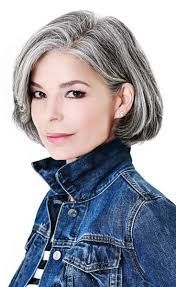 Image result for short haircuts for a little wavy gray hair round face
