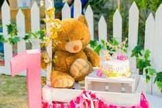 Teddy Bear Picnic in the Park themed birthday party via Kara's Party Ideas | KarasPartyIdeas.com (25)