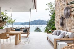 Jennifer Hawkins' Sydney home is on the market Jennifer Hawkins, Timber Wall Panels, Timber Walls, Indoor Outdoor Living, Outdoor Decor, Outdoor Areas, Outdoor Rooms, Architects Sydney, Three Bedroom House