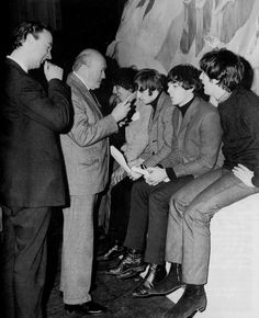 Preparing for Christmas show 1964 at Hammersmith Odeon London #TheBeatles