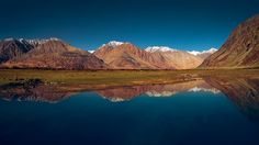 Himalayas mountains reflected on a lake in Nubra valley Ladakh India [1200x675] by Marji Lang http://ift.tt/2d6soxn @tachyeonz